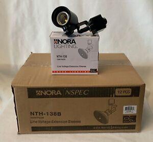 Case of 12 Nora Track Lighting Adjustable Fixtures