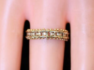 NICE Estate Unisex Imperial 14K Gold Mirror Style Unique Flex Mesh 5mm Ring/Band