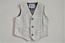 Children's Place Black and Off White Herringbone Vest Size 4T