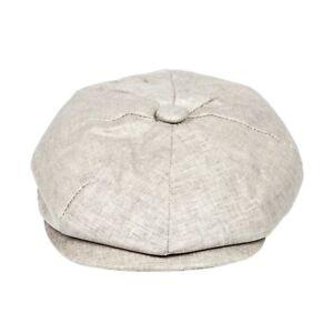 Peaky Blinders Summer Newsboy Flat Cap 100% Linen Baker Boy Gatsby Summer Hat
