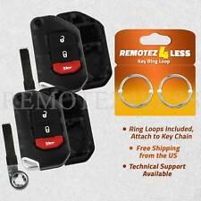Qty 2 Alegender Silicone 3-Btn Flip Key Cover Fob Case Skin Remote Jacket Holder Protector for 2018 2019 Jeep Wrangler JL Black Blue