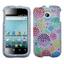 For Huawei T-Mobile Prism U8651T Crystal BLING Case Phone Cover Rainbow Bubbles