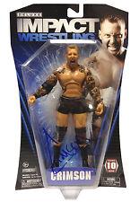Officiel tna impact wrestling deluxe série 10 crimson figure * la main signé *