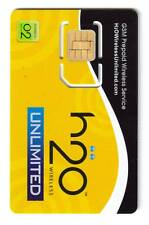 New Lot Of 10 Pre-Cut Nano Sim Card H2O H20 Wireless Mobile Kit For iPhone 5
