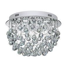 US Modern K9 Crystal Ceiling Light Chandelier for Living Room Kitchen Silver