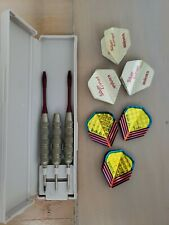 New listing Three Old Silver Comet Darts by Unicorn England in Box - Incomplete