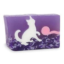 PRIMAL ELEMENTS WHITE CAT 6.0 OZ. VEGETABLE GLYCERIN BAR SOAP HANDMADE