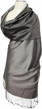 Seidenschal Grau Grey 100% Seide pure silk soie stole  écharpe foulard 70 x180