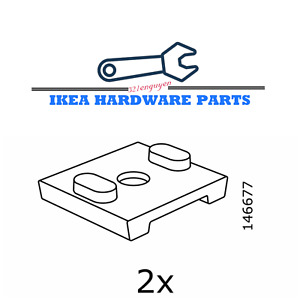 TWO IKEA Replacement Mounting Hardware ELVARLI Shoe Shelf Support Part # 146677