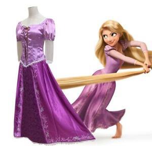 Costume Rapunzel vestito carnevale principessa abito adulti donna lungo viola
