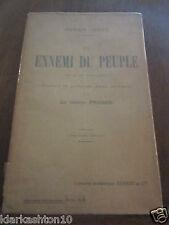 Henrik Ibsen: un ennemi du peuple/ Librairie Académique Perrin