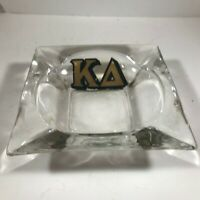 Vintage Clear Glass Sorority KAPPA DELTA Ashtray Retro