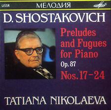CD Shostakovich-Preludes & Fugues pianoforte op.87 NOS. 17-24, Nikolaeva, Melodiya