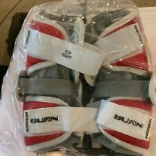 New Warrior Burn Lacrosse Arm Guard - Medium Red And White