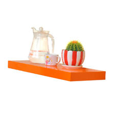 Orange 40cm Matt Wall Floating Shelf Storage Rack Display Shelving New