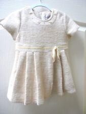 574e56ce1e0 Designer Couche Tot Baby Girl Cream Wool Blend Dress 9 - 12 m Party Wedding
