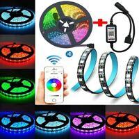 RGB LED Strip Lights IP65 Waterproof 5050 5M 300 LEDs 12V + Bluetooth Controller