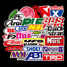 50Pcs Vinyl Jdm Stickers Pack Motorcycle Racing Car Motocross Helmet Decals Bbs