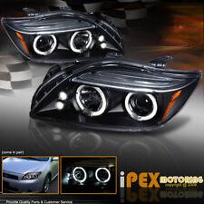 "NEW For 2004-2010 Scion TC ""Dual Halo"" Projector Headlights W/ LED Lights Black"