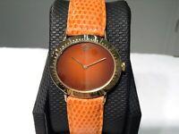 ROLEX Ref. 4083 CELLINI 18K Y/Gold 33mm w/ Orange Vignette Dial Cal. 1601! RARE!
