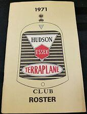 Vintage Hudson Essex Terraplane - 1971 Club Roster