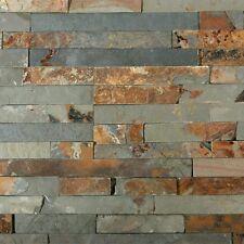 Naturstein Wandverblender, Wandverkleidung, Schiefer, multicolor - 1 Musterstück