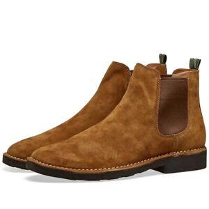 Men's Polo Ralph Lauren Talan Chelsea Caramel Suede Boots - UK 10