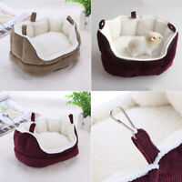 Small Animal Winter Warm Bed House Washable Hamster Squirrel Rabbit Nest Sofa