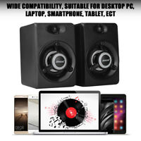 SADA Mini LED Stereo Lautsprecher Speaker Für Computer PC Laptop Desktop USB DE