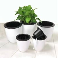 Automatic Self Watering Plastic Round Plant Flower Pots Home Office Garden Decor
