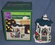 Ceramic Miniature Christmas Snow Village Visit with Santa Park Gazebo & People