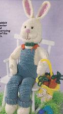 Crochet Pattern ~ RABBIT & BASKET Easter Bunny Stuffed Animal Toy ~ Instructions