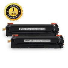2Pk BK Toner for HP 202A Color LaserJet M254nw M254dw MFP M281fdw M281fdn CF500A