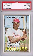 1967 Topps #290 Bill White PSA 8 NM-MT Philadelphia Phillies
