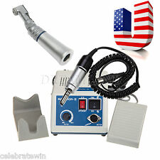 Dental Lab Marathon N3 Electric Micro Motor +Contra Angle Slow Handpiece Fit NSK