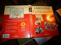 LAROUSSE de la GENEALOGIE 2002 Livre & CD Rom A LA RECHERCHE de vos RACINES