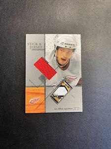 2003-04 ITG Signature Series Pavel Datsyuk Game Used Stick & Jersey /80 🔥🔥🔥