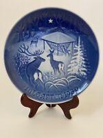 """B & G Copenhagen """"Christmas in the Woods"""" Blue Plate Denmark 1980, 7,25"""""""