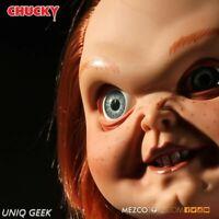 "Mezco Child's Play Movie SNEERING CHUCKY 15"" - Inch Mega Talking Doll  IN STOCK"