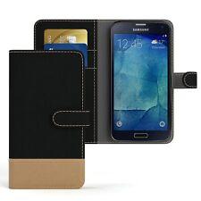 Tasche für Samsung Galaxy S5 / Neo Jeans Cover Handy Schutz Hülle Case Schwarz