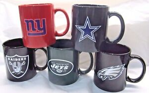 NFL 11 oz C Handle Coffee Mug with Team Logo by The Memory Co. Select Team Below