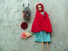RARE Barbie #0880 Fashion Queen 1964 Little Red Riding Hood & The Wolf Outfit