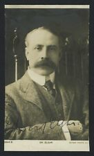 Edward ELGAR (Composer): Signed Postcard Photograph