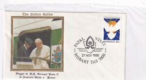 Australien 1004 PAPST JOHANNES PAUL II POPE JOHN PAUL II HOBART RELIGION 1986