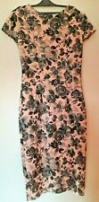 VGC Amy Childs Collection Cap Sleeved Black/Pink Shift Dress, Size 10