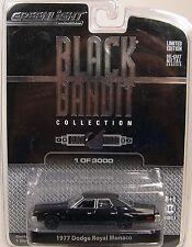 BLACK 1977 DODGE ROYAL MONACO 1:64 SCALE GREENLIGHT DIECAST METAL CAR