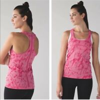 Lululemon Swiftly Tech Racerback Tank Top Pink Athletic Women's Size 6