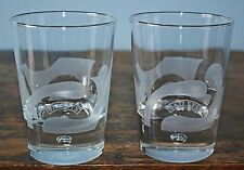 "Set of 2 Baileys Irish Cream Rocks Bubble Glasses; Heavy base; 4""; cool design"
