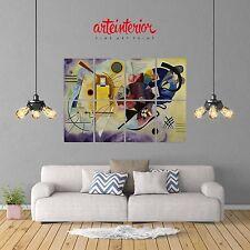 Kandinskij Giallo Rosso Blu POSTER GIGANTE 131x91 cm Stampa FINE ART Wall Print
