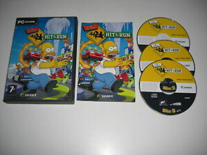 THE SIMPSONS - HIT and & RUN Pc Cd Rom Original Version - FAST POST